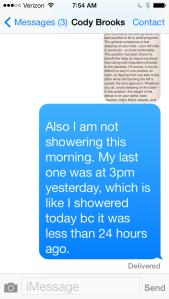 No Shower